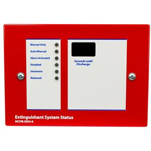FirePro Xtinguish™  Status Display Unit for HCVR-3, Surface Mount, Red, 24V