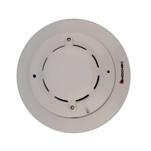 Photoelectric Smoke Detector Head and Trim Ring, 8-35VDC Operation, 2-Wire