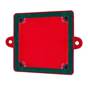 GBBB WEATHERPROOF SURFACE BACK BOX FOR GB SERIES, RED