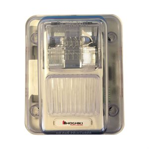 WHES24-75WW - Weatherproof 24VDC Strobe, 75CD, Wall Mount, White