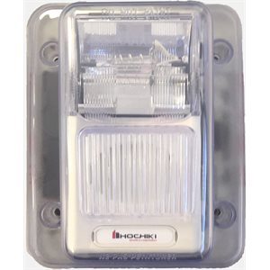 WHEC24-75WW - Weatherproof 24VDC Horn Strobe, 75CD, Wall Mount, White