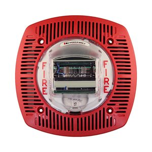 Speaker Strobe 24VDC, Multi Candela, Wall Mount, Red