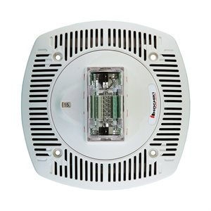 Speaker Strobe 24VDC, Multi Candela, Plain No Lettering, Ceiling Mount, White