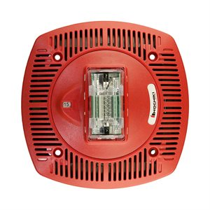 Speaker Strobe 24VDC, Multi Candela, Ceiling Mount, Red