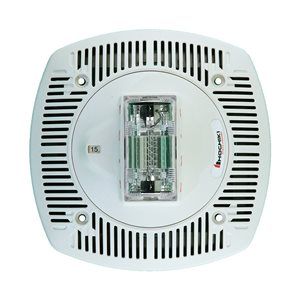 Speaker Strobe 24VDC, Multi Candela, Ceiling Mount, White
