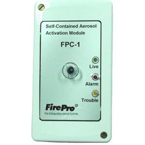 Fire Protection Controller with built-in heat detector.