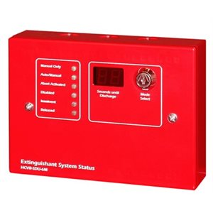 FirePro Xtinguish™  Status Display Unit for HCVR-3, Surface Mount, w/ Mode Select Switch, Red, 24V